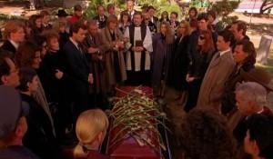 Laura Palmer's funeral, Twin Peaks, Mark Frost, David Lynch, CBS, 1990