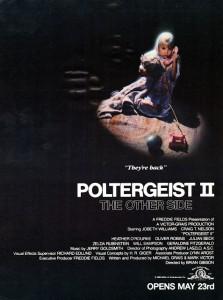 poltergeist 2 poster, http://hiitsburl.blogspot.com/2012/07/burl-reviews-poltergeist-ii-1986.html