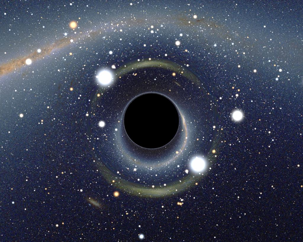 Hawking radiation, http://en.wikipedia.org/wiki/Hawking_radiation#mediaviewer/File:BH_LMC.png