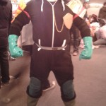 """Kelly K, """"Budget Dredd"""" cosplay at Thought Bubble"""