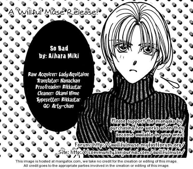So Bad! Manga by Aihara Miki, example of scanlation ethics, hosted on mangahere ethics in manga