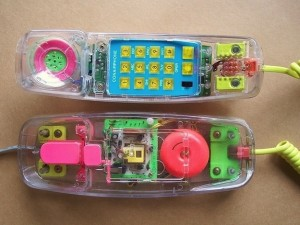 90s clear phone