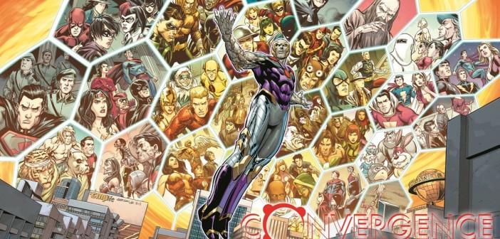 Convergence Promo Art, DC Comics, 2014, encils: Carlo PagulayanInks: Jose Marzan Jr.Colors: Hi-Fi Colour