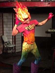 Flame Con mascot