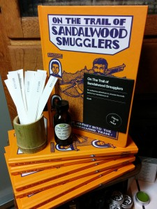 Lush + Gorilla Perfumes, Sandlewood Smugglers graphic novel launch party, London, November 2014, Frances Carbines