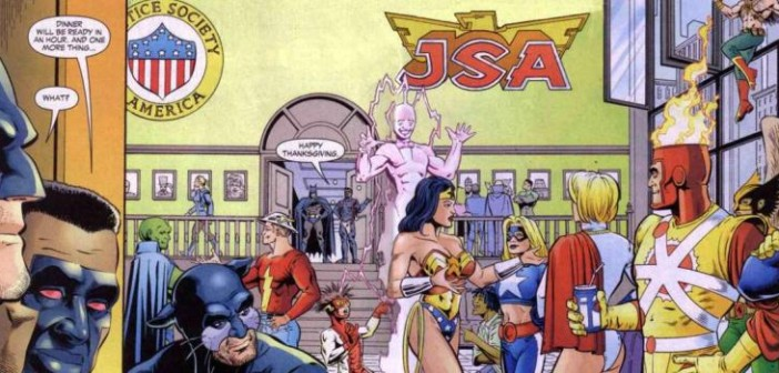 JSA #54, Geoff Johns, Don Kramer, Keith Champagne, DC Comics 2003. Happy Thanksgiving, Batman.
