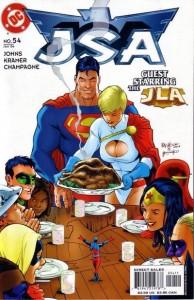 JSA #54 cover, Geoff Johns, Carlos Pacheco, Jesus Merino, J.D. Mettler, DC Comics 2003