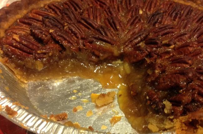 Pecan Pie Cross-Section