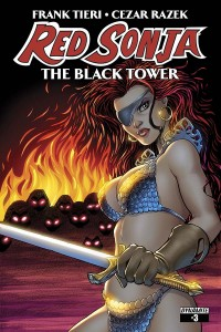 Red Sonja, The Black Tower #03, Tieri & Razek, cover Amanda Conner, Dynamite 2014