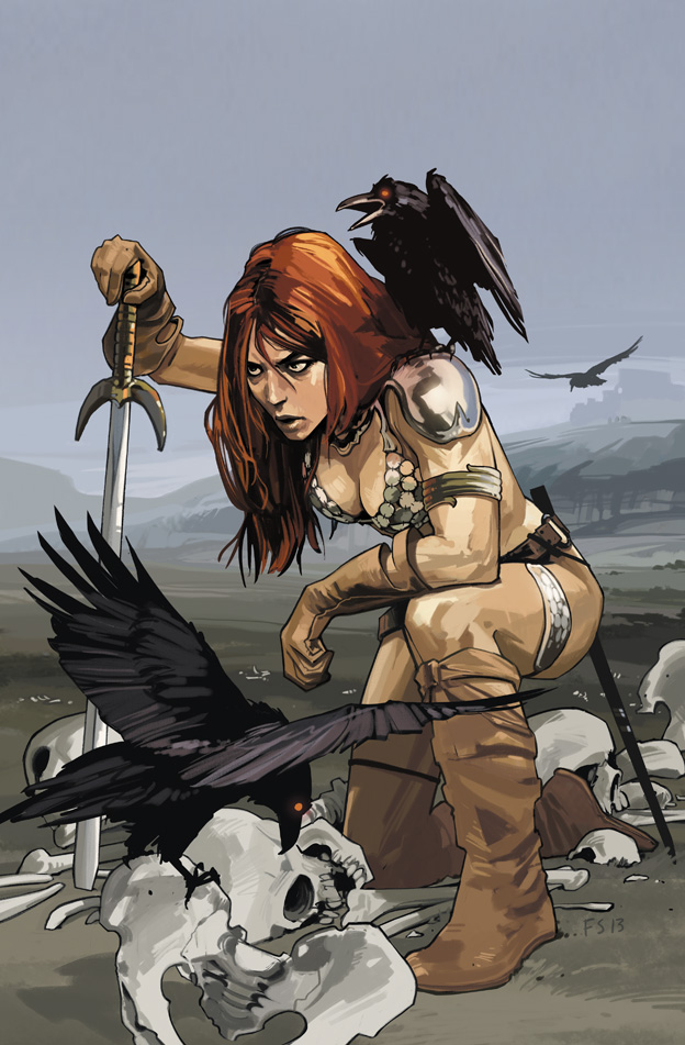 Red Sonja #1, Simone & Geovani, cover by Fiona Staples, Dynamite, 2013