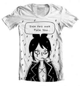 Katie Skelly, AdHouse Books, 2014 Operation Margarine t-shirt, seibei