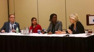 The State of Publishing Around the World. Moderated by David Caron. Panelists: Neeta Gupta, Tanya Batson-Savage and Mariagrazia Mazzitelli. Inspire! Toronto International Book Fair. 2014.