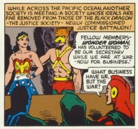 Justice Society of America. DC Comics. Wonder Woman. All Star Comics #12. 1942.