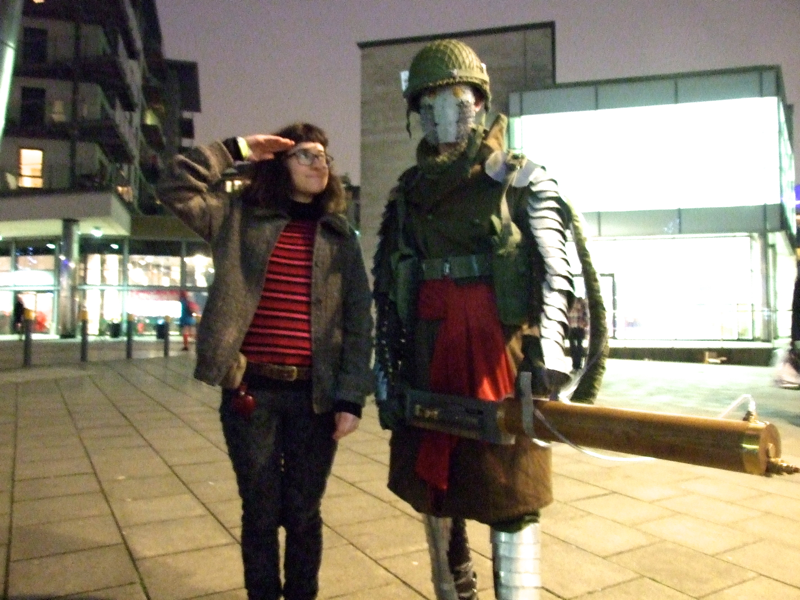 Thought Bubble Cosplay, 2014, War Man original design