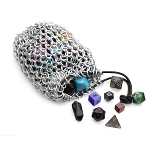 Chain Mail Gaming Dice Bag on ThinkGeek