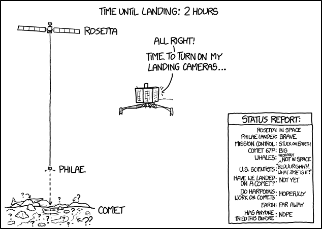 XKCD Landing, 2 Hours