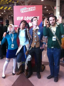 The author & friends being a goddamned nuisance at NYCC 2012.