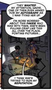 panel from Batgirl 37, Babs Tarr, Brendan Fletcher, Cameron Stewart, DC Comics, 2014