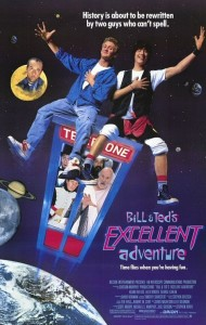 Bill & Ted's Excellent Adventure. Directed by Stephen Herek. 1989. Movie Poster