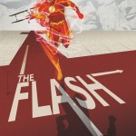 FLASH #40. Inspired by NORTH BY NORTHWEST. Cover Art by Bill Sienkiewicz. DC Comics. Variant Cover