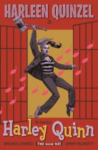HARLEY QUINN #16. Inspired by JAILHOUSE ROCK. Cover Art by Dave Johnson. DC Comics. Variant Cover