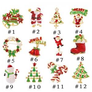 Christmas enamel pins, 90s fashion