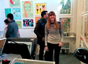 Lucille Clerc, London Illustration Fair, 2014, photos by Frances Carbines