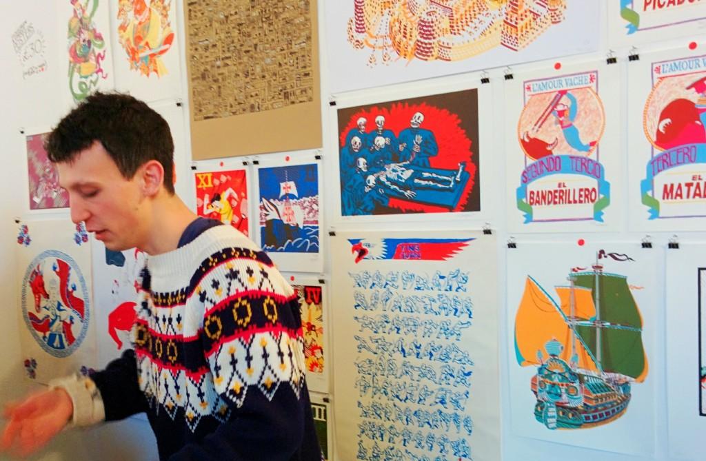 Mathieu Zanellato, London Illustration Fair, 2014, photos by Frances Carbines