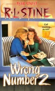 RL Stine, Fear Street 27, Wrong Number 2 cover, Bill Schmidt artist