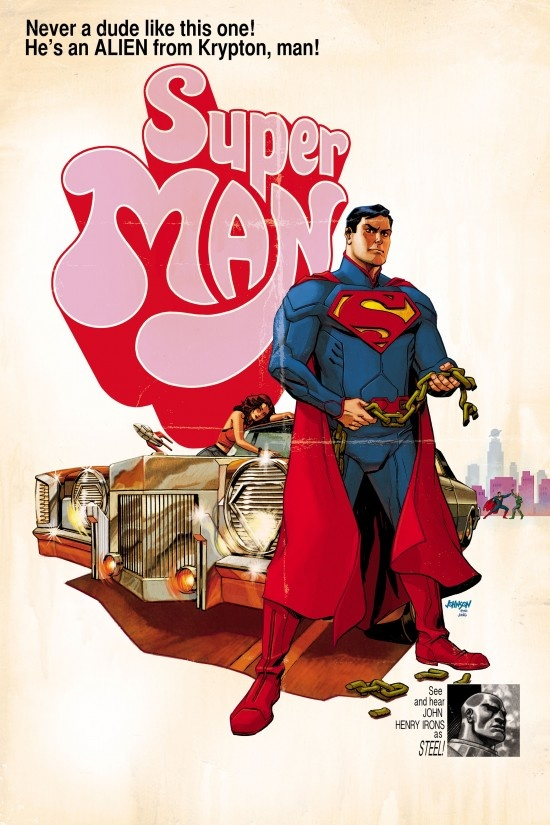 SUPERMAN #40. Inspired by SUPER FLY. DC Comics. Cover Art by Dave Johnson. Variant Cover