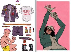 Jake Wyatt art prints, X-Men (Marvel Comics), Rogue, Quentin Quire, etsy, 2014