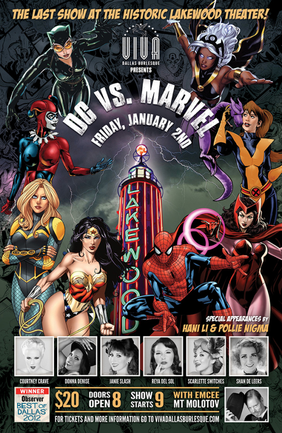 Viva Dallas Burlesque Does DC vs. Marvel