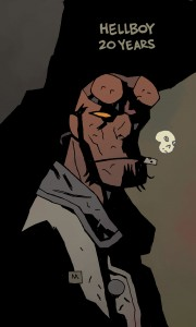 hellboy 20 years sketch, mike mignola, dark horse comics
