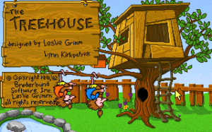 The Treehouse - Designed by Leslie Grimm and Lynn Kirkpatrick - Broderbund Software Inc