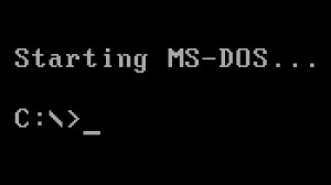 MS-DOS Load Screen