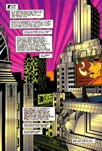 page from Starman #1, James Robinson, Tony Harris, DC Comics, 1994.