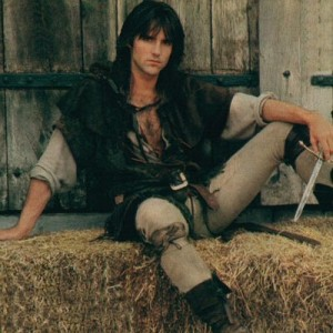Michael Praed, Robin Hood, in tight leggings, Robin of Sherwood, Richard Carpenter, HTV in association with Goldcrest, 1984-1986