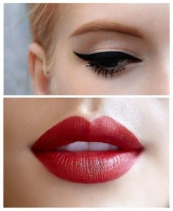 classic vintage red lip