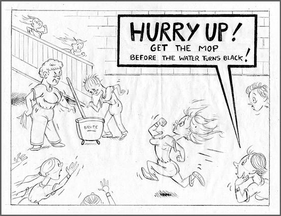 Alana Pritchard Jail Drawing Get the Mop