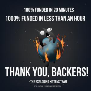 Exploding Kittens funded