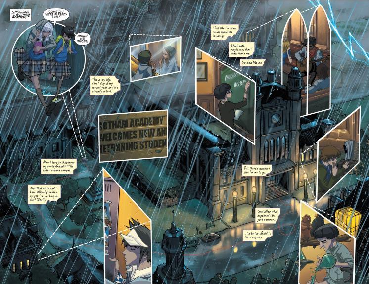 Issue #1. Gotham Academy. Written Becky Cloonan and Brenden Fletcher. Art by Karl Kerschl. DC Comics. October 2014.