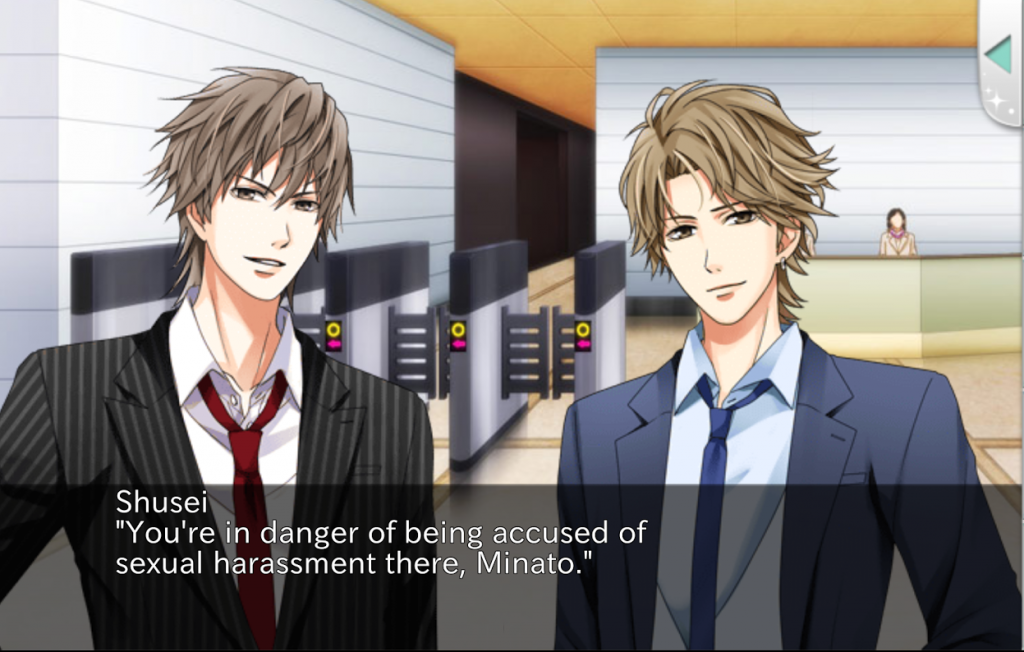 At least SOMEONE is telling it like it is! (Minato is smug-face on the left there.) Our Two Bedroom Story by Voltaire Inc.