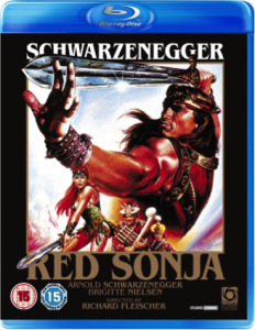 Red Sonja, 1985 blue ray cover
