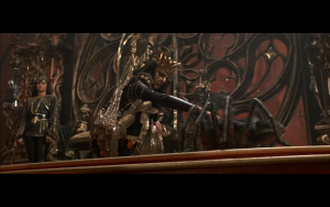 Red Sonja, 1985, screenshot of Gedren and pet spider