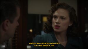 Agent Carter Advocates for Herself. Source: Hulu.com. ABC Studios/Marvel Television. Original air date: 2/3/2015.