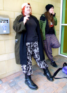Jay & Silent Bob Cosplayers, OK True Believers, Cheltenham Racecourse, 2015