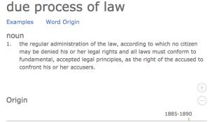 Dictionary.com, Due Process, Definition.