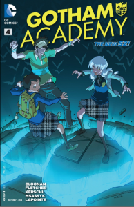 Issue #4. Gotham Academy. Written Becky Cloonan and Brenden Fletcher. Art by Karl Kerschl. Colouring by MSASSYK and Serge Lapointe. DC Comics. January 2014.