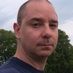 John Scalzi, photographer unknown (selfie?), public domain image, wikimedia upload