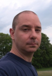 John Scalzi, photographer unknown (selfie?), public domain image, wikimedia upload